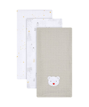 my first christmas muslins - 3 pack