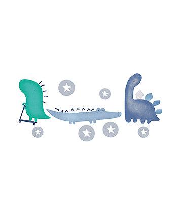 sleepysaurus dinosaur nursery wall stickers