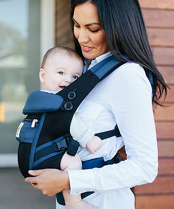 Ergobaby adapt cool air mesh carrier - raven