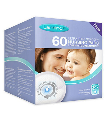 Lansinoh disposable nursing breast pads- 60 pack