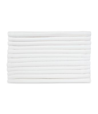 mothercare white muslins - 12 pack