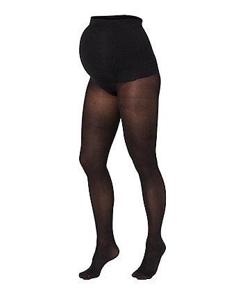 Mamalicious black maternity tights - 2 pack