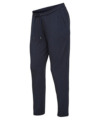 Mamalicious payton navy jersey maternity trousers