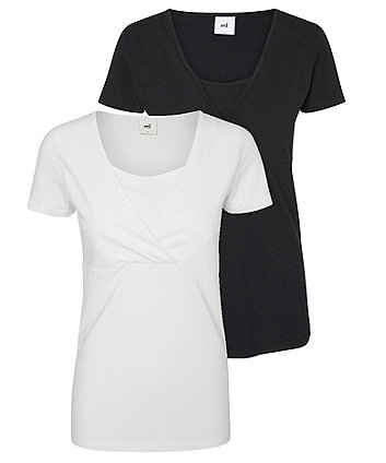Mamalicious tess organic maternity t-shirts - 2 pack