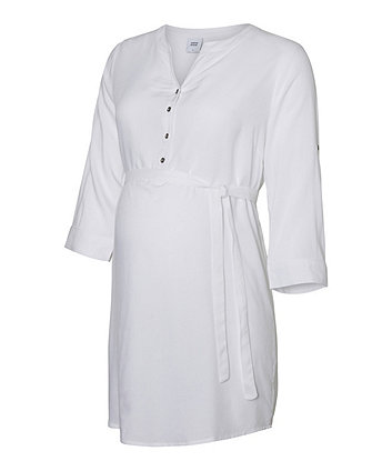 Mamalicious mercy woven white maternity tunic