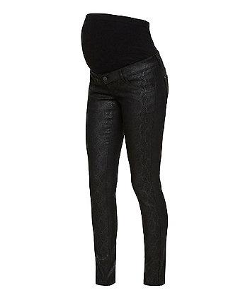 Mamalicious boa coated maternity jeans
