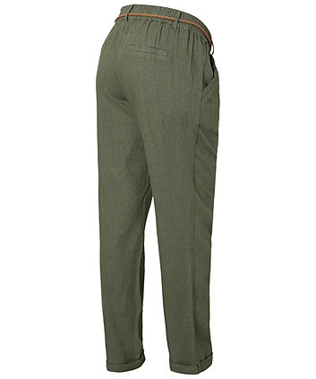 Mamalicious belted woven maternity trousers