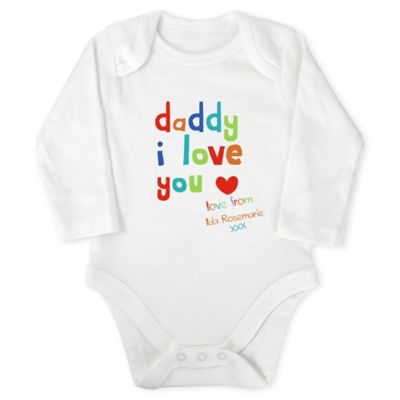 Mothercare I Love Daddy Personalised Bodysuit