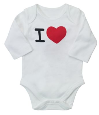 Mothercare I Love Personalised Bodysuit