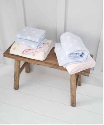 mothercare moses basket or crib fleece blanket - cream