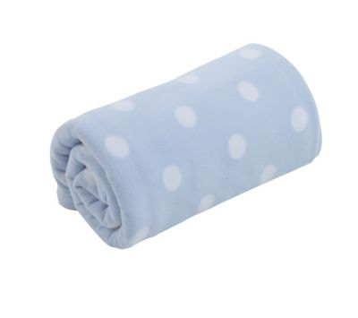 mothercare cot or cot bed fleece blanket - blue