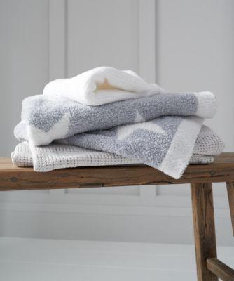 mothercare crib or moses basket cellular cotton blanket- white