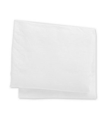 white jersey cotton fitted moses basket/pram sheets - 2 pack