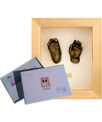 Memory Makers pair of 3D casts in a metallic frame - gift voucher