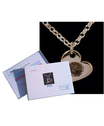 Memory Makers silverprints charm on a necklace - gift voucher