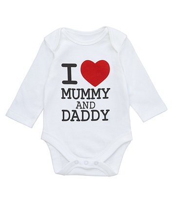 Mothercare I Love Mummy and Daddy Bodysuit