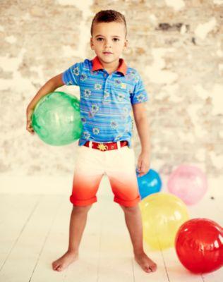 Baby K Dip Dye Belted Shorts