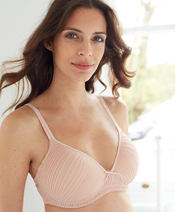 e93a91bf83 Blooming Marvellous Maternity Pink Chiffon Pleated Support T-Shirt Bra