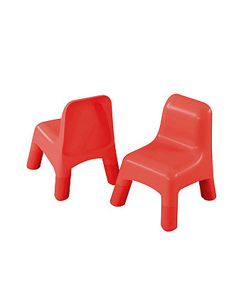 Early Learning Centre Two Plastic Chairs - Red