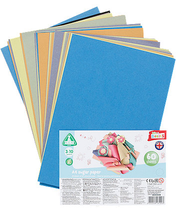 Early Learning Centre A4 Sugar Paper- 60 Sheets