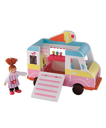 Early Learning Centre Rosebud Wooden Village Ice Cream Van