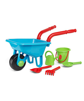 Early Learning Centre Blue Wheelbarrow Set
