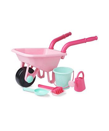 Early Learning Centre Pink Wheelbarrow Set