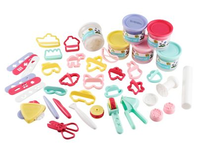 Early Learning Centre Soft Stuff Bumper Dough And Tool Set Pink