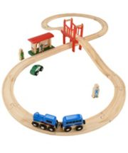 Early Learning Centre Big City Figure Of 8 Wooden Rail Set