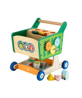 Early Learning Centre Wooden Shopping Trolley Walker