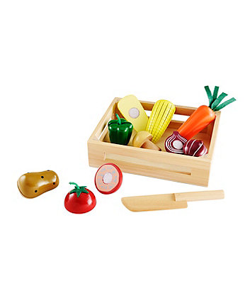 Early Learning Centre Wooden Vegetable Crate