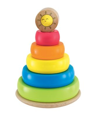 Early Learning Centre Wooden Sml Highchair Toy Stacking Ring