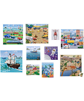 Early Learning Centre 10 In A Box - World Tour Bus Puzzles