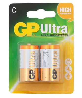 GP Ultra Alkaline C2 Battery 1 Pack