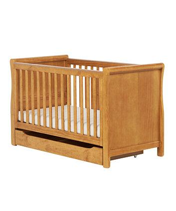 Mothercare Darlington Sleigh Cot Bed- Antique