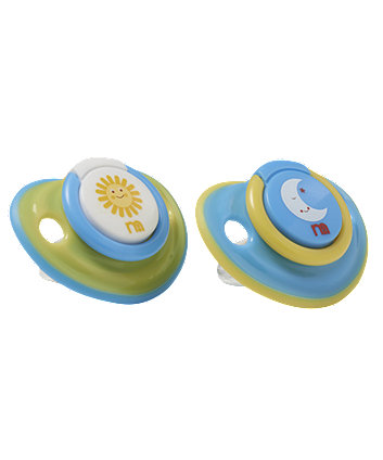 Mothercare Sun and Moon Airflow Soothers - 3 months+