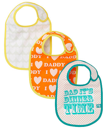 Mothercare I Love Daddy Bibs - 3 Pack