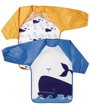Mothercare Whale Bay Coverall Bibs - 2 Pack