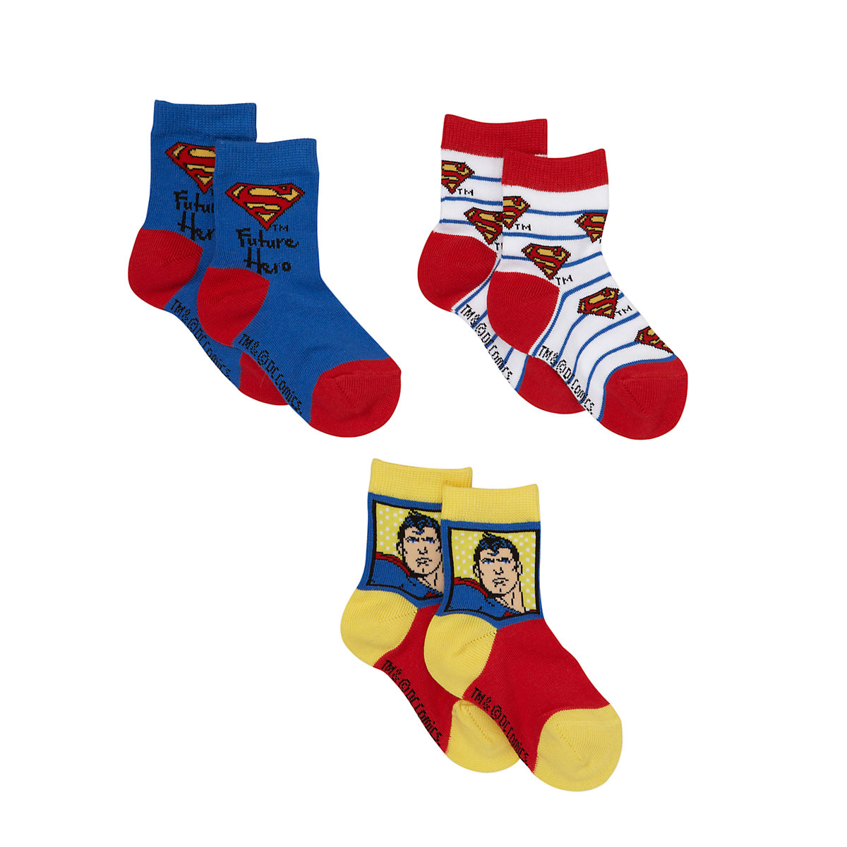Superman Socks - 3 Pack - Superman Gifts