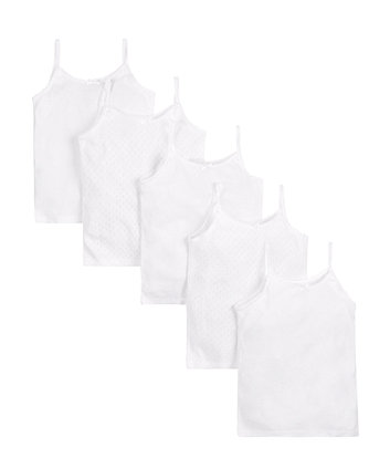 Mothercare Whte Cami Vests - 5 Pack