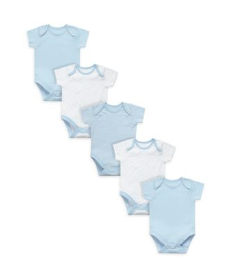 Mothercare My First Blue Bodysuits - 5 Pack