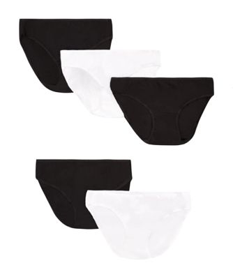 Mothercare Maternity Black And White Mini Briefs - 5 pack