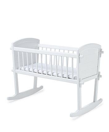 Mothercare Troll Rocking Crib - White