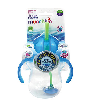 Munchkin Tip & Sip Flexi-Straw Cup-Blue