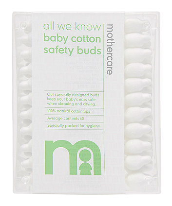 Mothercare Safety Cotton Buds - 60 Pack