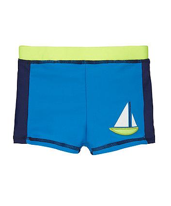 Mothercare Blue & Navy Colour Block Lycra Shorts