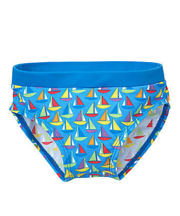 Boat Print Swimming Trunks - 9-12 months