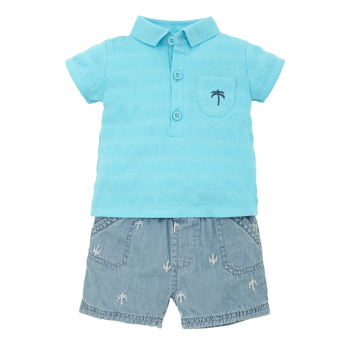 Mothercare Baby Newborn Boy's Palm Tree Polo Shirt and ...