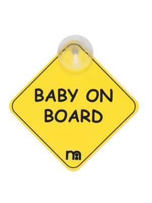 Mothercare Baby On Board Sign - Yellow