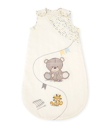 Mothercare Snoozie Teddy's Toy Box Sleep Bag 0-6 months 2.5 Tog